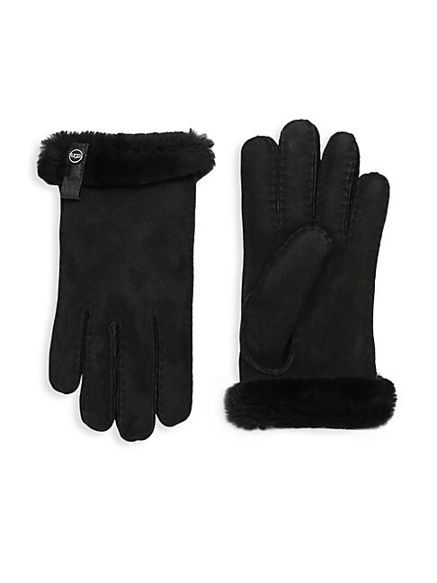 SHEEPSKIN AND DYED SHEARLING TENNEY GLOVES