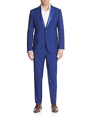 Regular-Fit Sharkskin Virgin Wool-Blend Tuxedo