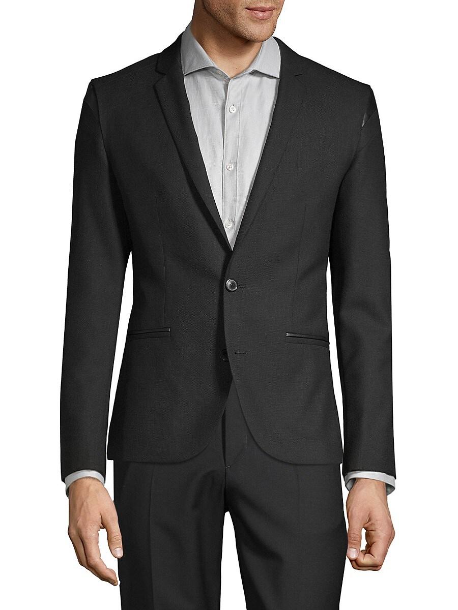 Men's Regular-Fit Adgert Faux-Leather Trimmed Jacket