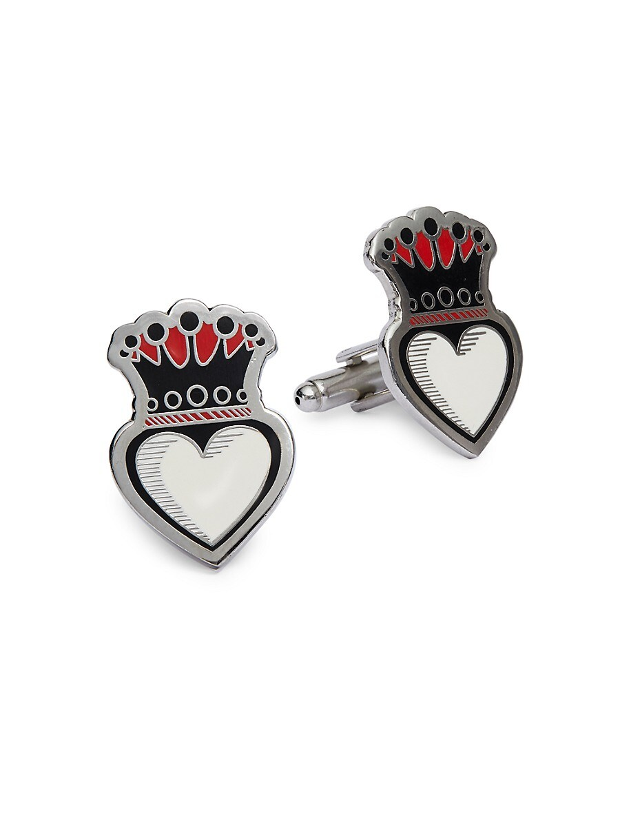 Men's Crowned Heart Cuff Links
