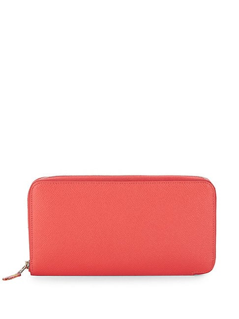 Herm S VINTAGE PINK EPSOM LEATHER CONTINENTAL WALLET