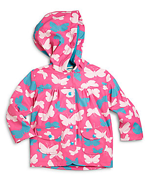 Little Girl's Butterfly Raincoat
