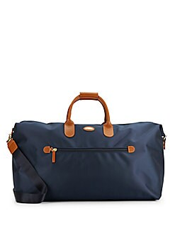 767fa708accf94 ... Leather Trimmed-Canvas Duffel Bag NAVY. QUICK VIEW. Product image