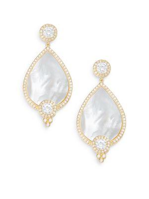 Freida Rothman  Visionary Mother-Of-Pearl & 14K Yellow Gold Vermeil Teardrop Earrings