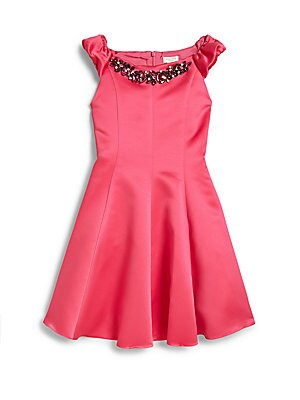 Girl's Diamond Boatneck Dress