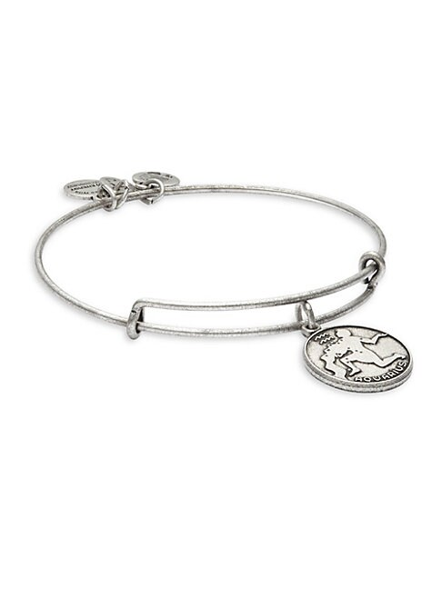 Aquarius Charm Bangle Bracelet