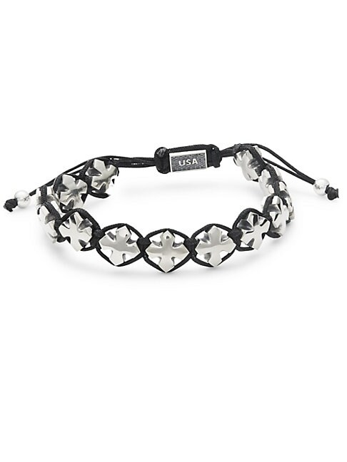 Sterling Silver Macrame Bracelet