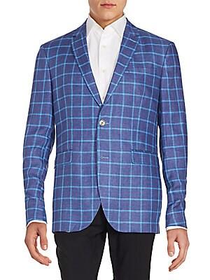 Windowpane Checks Linen Sportcoat
