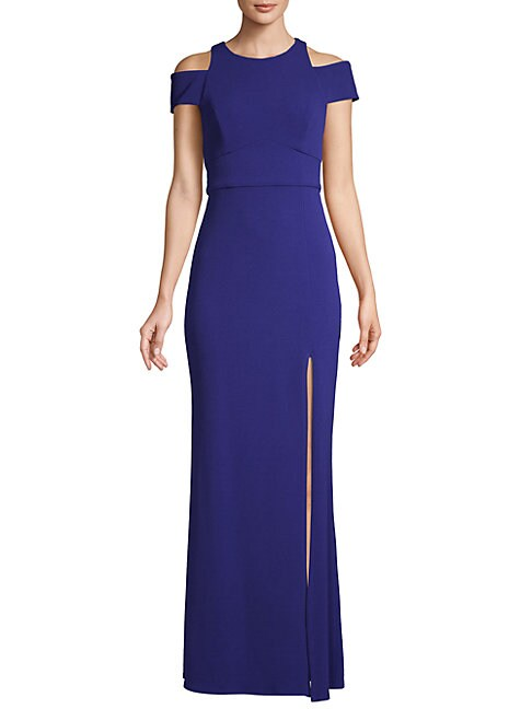Abs By Allen Schwartz CUT-OUT CREPE GOWN