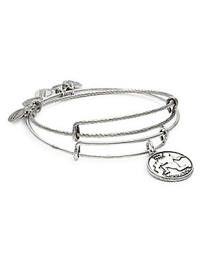 Aquarius Charm Bangle Bracelet