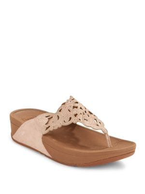 Fitflop  Flora Leather Slip-On Sandals