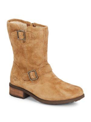 25edd1aff89 Chaney Suede & UGGpure Moto Boots