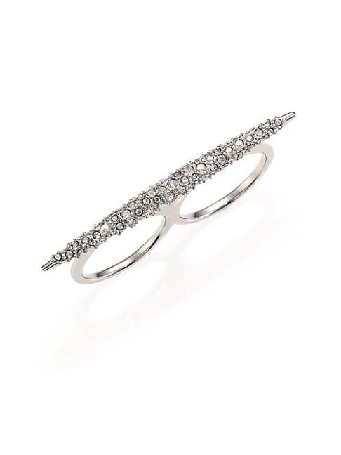 Miss Havisham Crystal Spear Two-Finger Ring