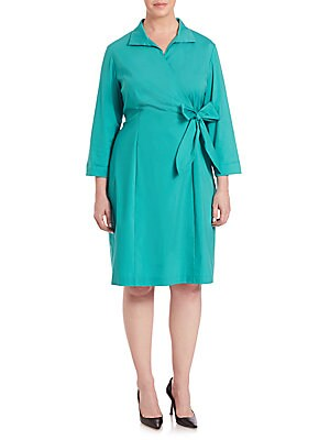 Edeline Faux-Wrap Dress