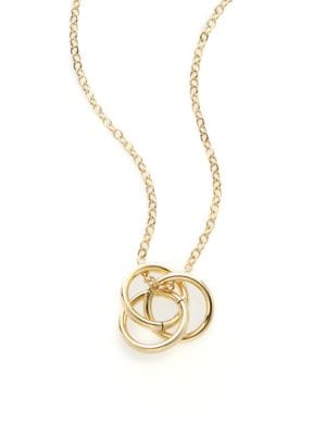 Saks Fifth Avenue  14K Yellow Gold Love Knot Pendant Necklace
