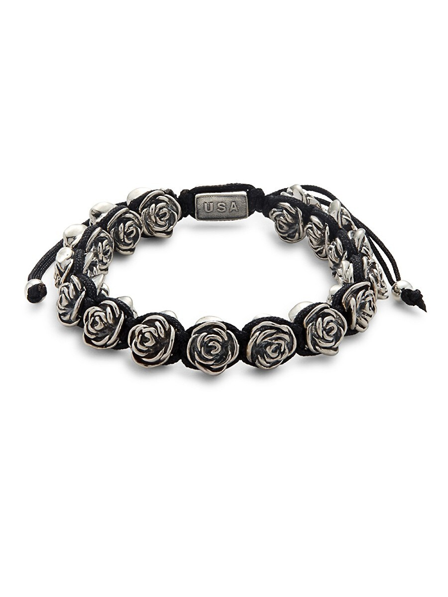 Men's Rose & Macrame Bracelet