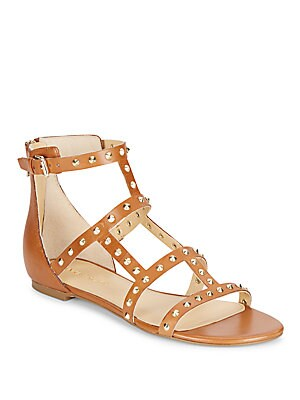 Camille Studded Leather Gladiator Sandals