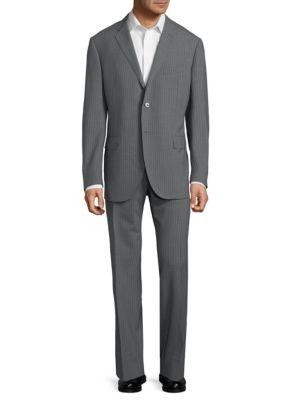 Corneliani Wools Stripe Wool Suit