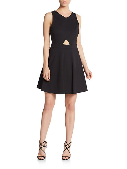 Eastyn Cutout Fit-And-Flare Dress