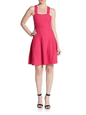 Bessie Popcorn-Stitch Dress