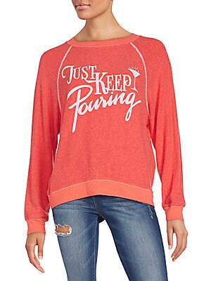 Just Keep Pouring Graphic Sweatshirt