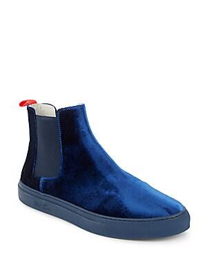 Velvet Chelsea Sneakers