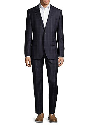 Genius Windowpane Wool Suit