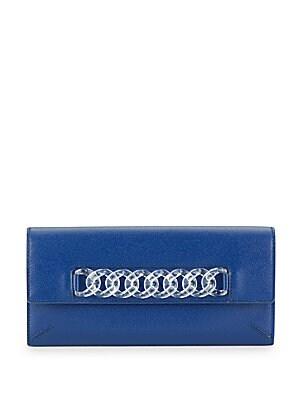 Chain Link-Leather Wallet