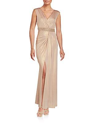 Sleeveless Shimmering Gown