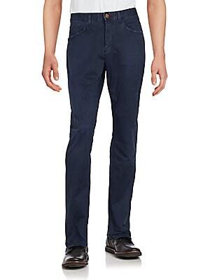 Straight-Leg Slim-Fit Pants