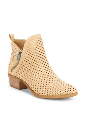 Lucky Brand  Basonta Perforated Leather Booties