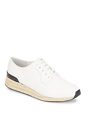 Rayner-3 Leather & Jute Sneakers