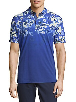 Floral Cotton Polo