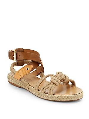 Leather & Jute Sandals
