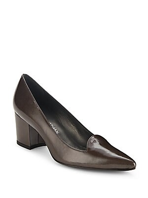 Pinpoint Patent Leather Pumps