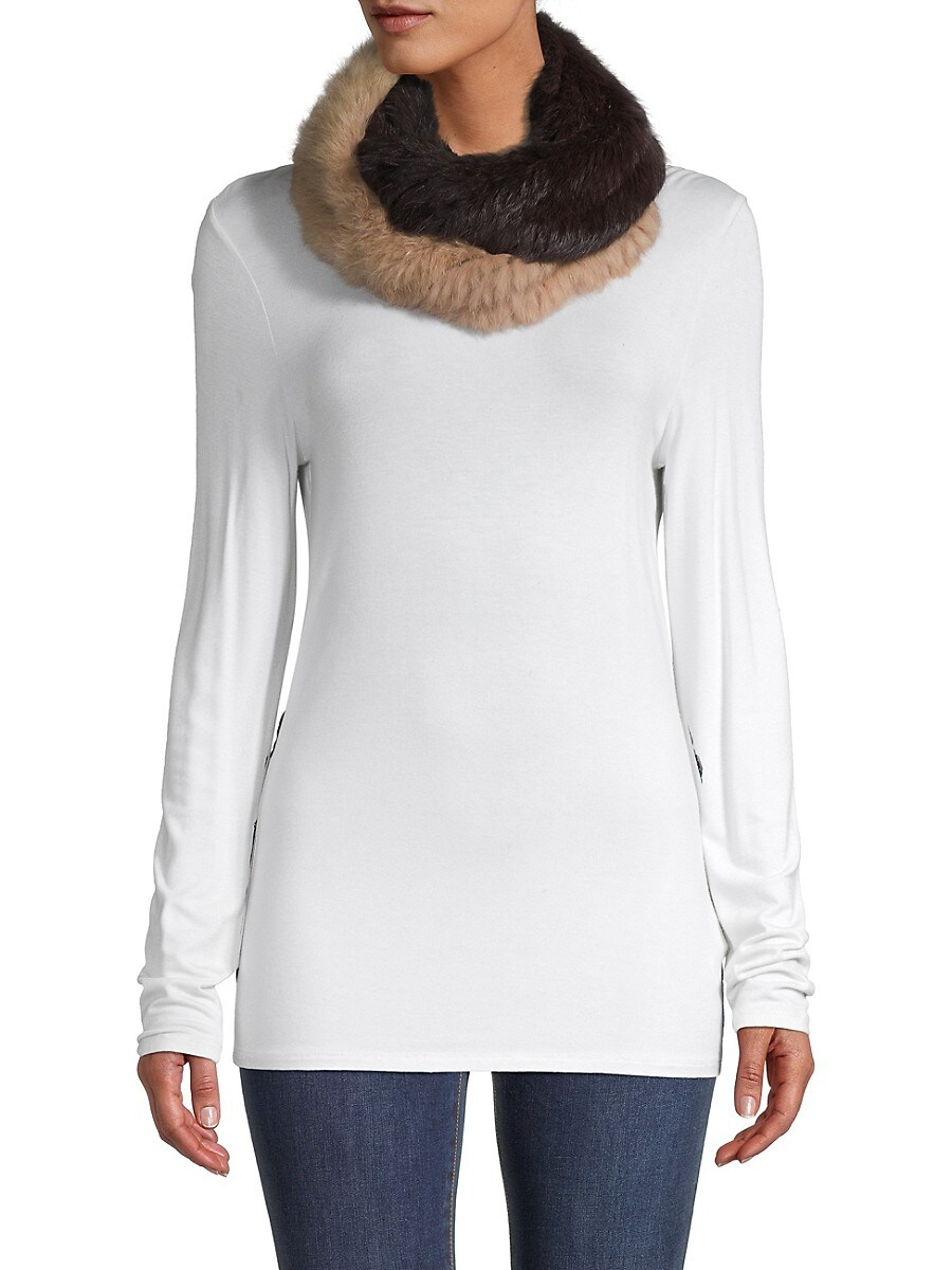 Women's Two-Tone Fur Scarf