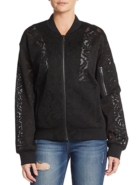 Brice Lace Bomber Jacket