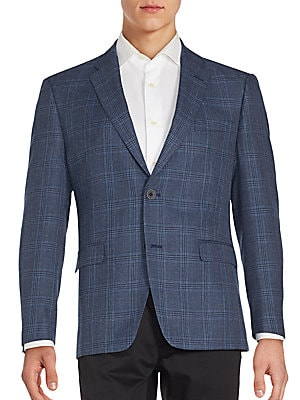 Notch Lapel Windowpane Jacket