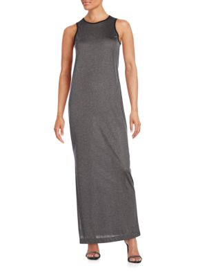 Atm Anthony Thomas Melillo Downs Solid Fitted Sleeveless Dress