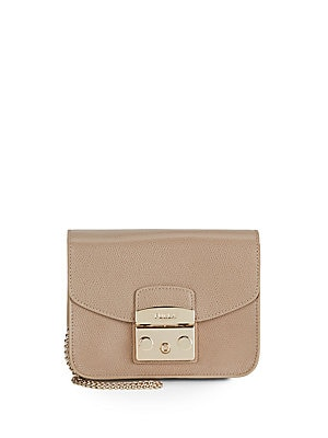 Textured Leather Mini Handbag