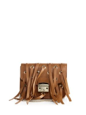 Furla Leathers STRAPPY LEATHER CROSSBODY BAG