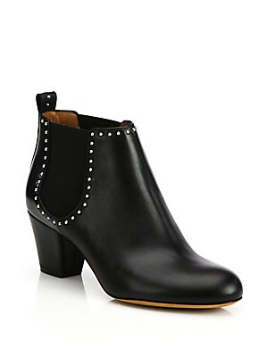 Elegant Studded Chelsea Ankle Boots