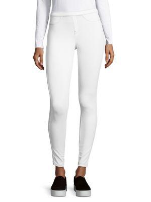 HUE Blended Cotton Leggings in White