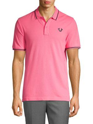 True Religion Cottons Signature Print Polo Shirt