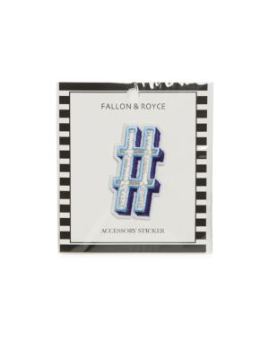 FALLON & ROYCE Embroidered Letter # Sticker in Blue