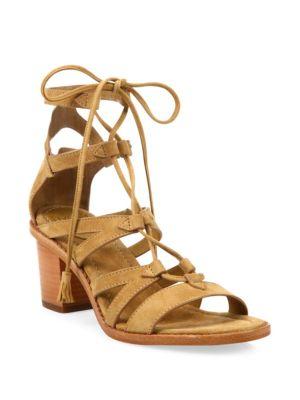 16f13a087da Frye Brielle Suede Gladiator Sandals