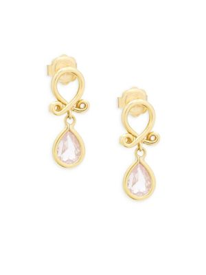 Temple St. Clair  18k Yellow Gold Loop Earrings