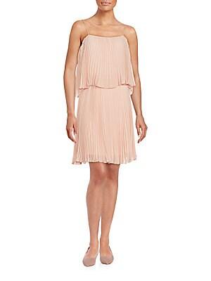 abs by allen schwartz female pleated popover dress