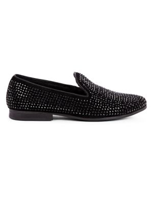 STEVE MADDEN Men'S Caviarr Rhinestone Smoking Slipper Men'S Shoes in Black