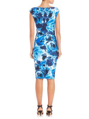 GIANVITO ROSSI Dresses Rose-Print Bodycon Dress